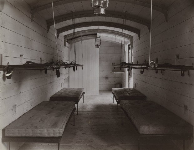 Inside an early, and rather rudimentary, First World War ambulance train. Picture courtesy of the National Railway Museum, York