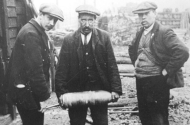 Shell shocked: after the bombardment, unexploded shells were discovered in the streets of Hartlepool