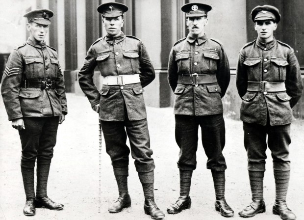Sergeant Edward Cooper, pictured left